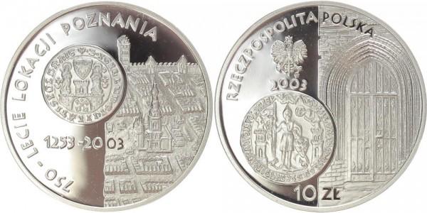 Polen 10 Zloty 2003 - 750 Jahre Stadt Posen
