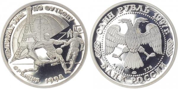 Russland 1 Rubel 1997 - Fußball WM