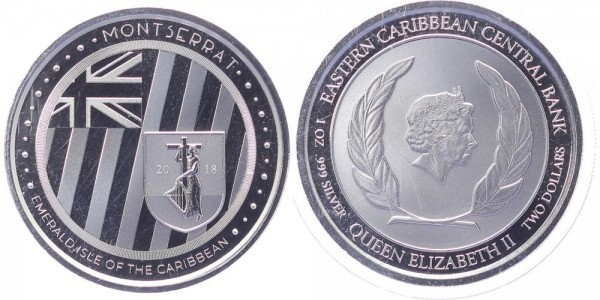 Montserrat 2 Dollars 2018 - Emerald Isle of the Caribbean