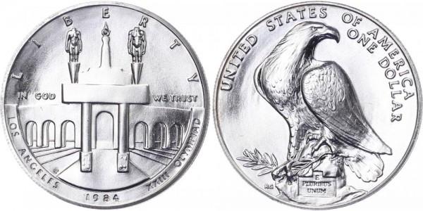 USA 1 Dollar 1983 S 23. Olympischen Spiele in L.A.
