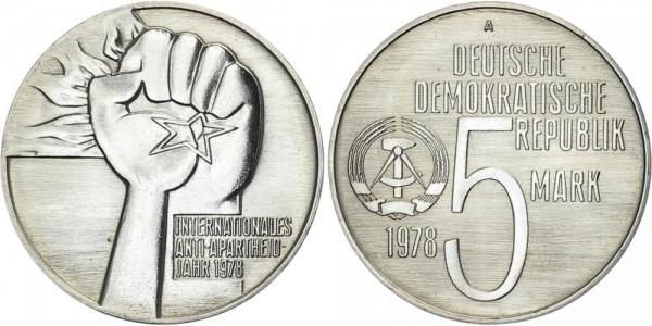 DDR 5 Mark 1978 A Anti-Apartheid-Jahr