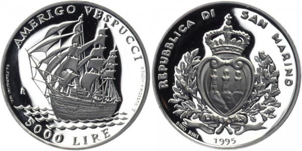 SAN MARINO 5000 Lire 1995 - Amerigo Vespucci