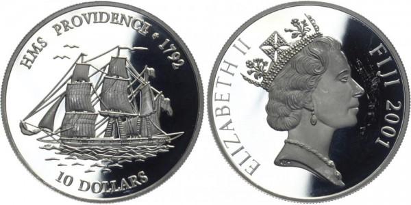 FIDSCHI 10 Dollars 2001 - HMS Providence
