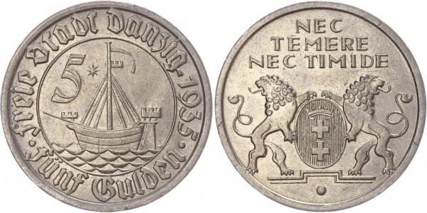 Danzig 5 Gulden 1935 - Freie Stadt