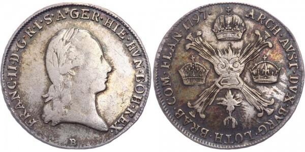 RDR/Österreich-Ungarn 1/4 Kronentaler 1797B Kremnitz Franz II. ( I. ) ( 1792 - 1835 )