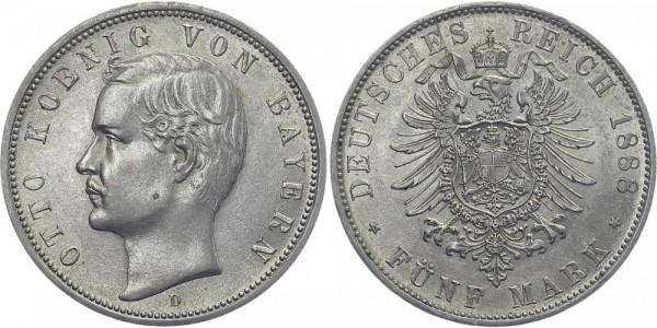 BAYERN 5 Mark 1888 D Otto