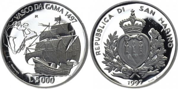 SAN MARINO 5000 Lire 1997 - Vasco da Gama