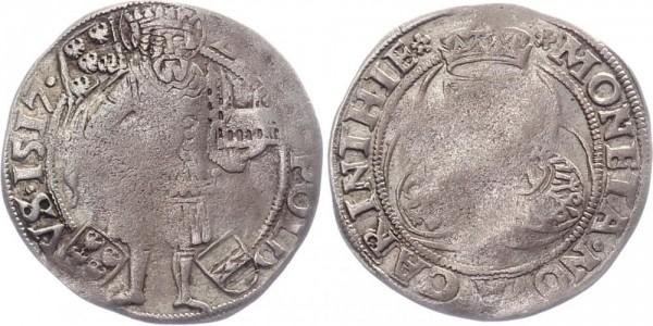 Österreich Batzen 1517 St. Veit Hl. Leopold