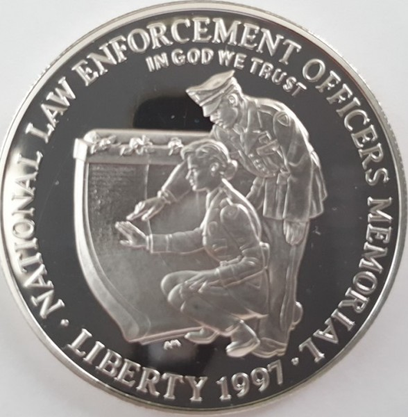 USA 1 Dollar 1997 P National Law Enforcement Officers Memorial
