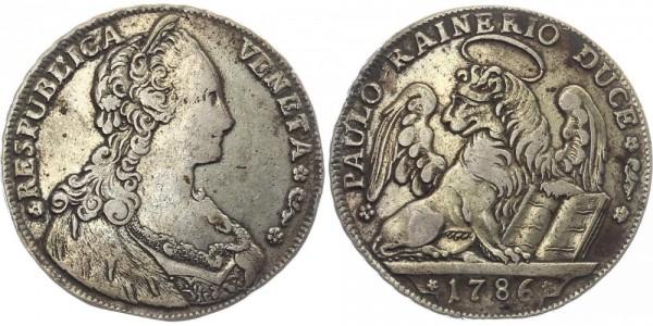 Italien 1 Taler 1786 Venedig Paolo Renier