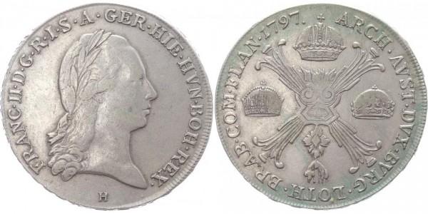 RDR Kronentaler 1797 H (Günzburg) Franz II.