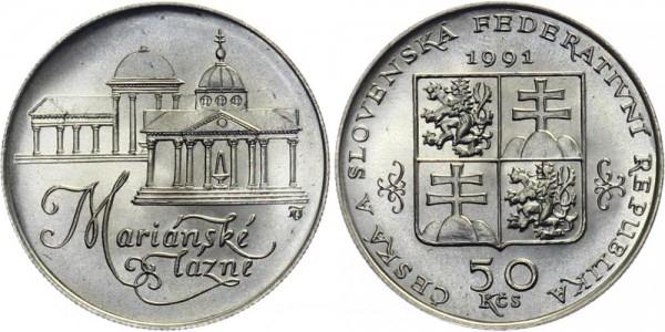 CSFR 50 Kč 1991 - Marianske Lazne / Marienbad