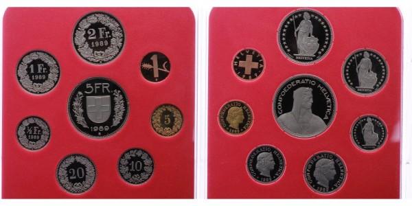 Schweiz 8,86 CHF 1989 - KMS
