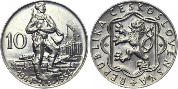 CSR 10 Kč 1954 - Slovakischer Aufstand - 10. Jahrestag