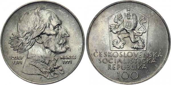 CSSR 100 Kč 1971 - Josef Manes