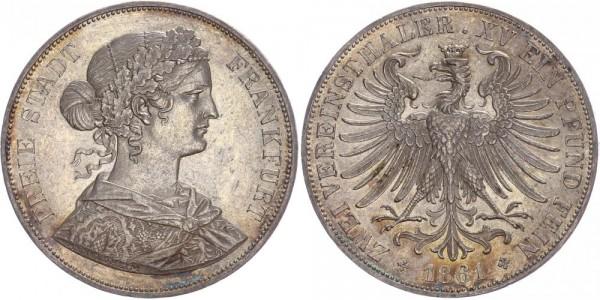 Frankfurt Doppeltaler 1861 - Freie Stadt