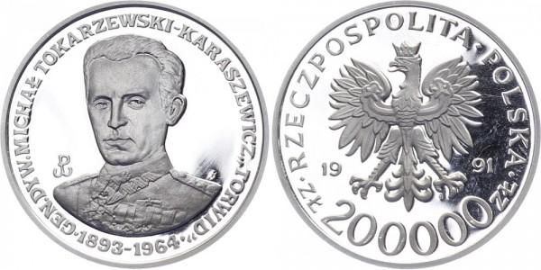 Polen 200 000 Zlotych 1991 - General Tokarzewski