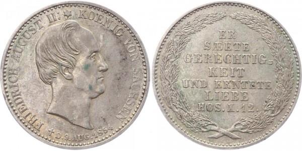Sachsen 1/3 Taler 1854 - Friedrich August II., Auf den Tod