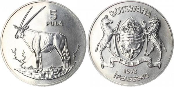 Botswana 5 Pula 1978 - Spießbock