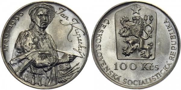 CSSR 100 Kč 1990 - Jan Kupecky