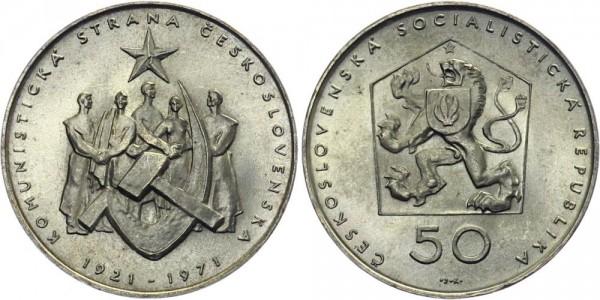 CSSR 50 Kč 1971 - 50 J. Kommunistische Partei