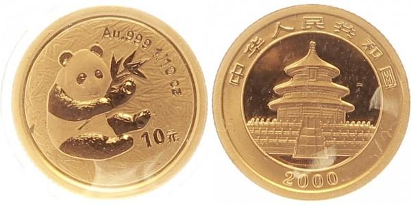 China 10 Yuan (1/10 Oz) 2000 - Panda