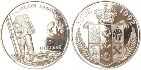 Niue 5 Dollar 1992 Mondlandung