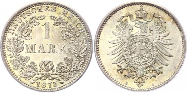 Kaiserreich 1 Mark 1875 A -
