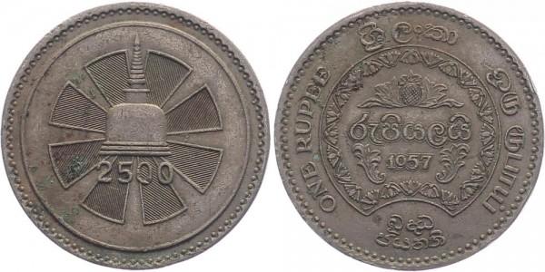 Sri Lanka/ Ceylon 1 Rupie 1957 - Jahrhundertwende