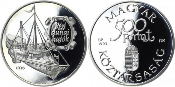 UNGARN 500 Forint 1993 - Régi dunai hajók
