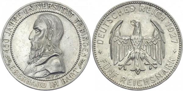 Weimarer Republik 5 Mark 1927 F Uni Tübingen