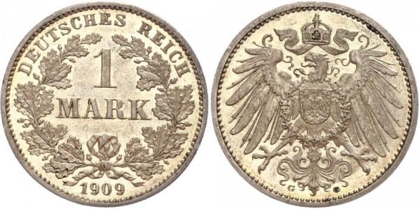 Deutsches Reich 1 Mark 1909 G Großer Adler