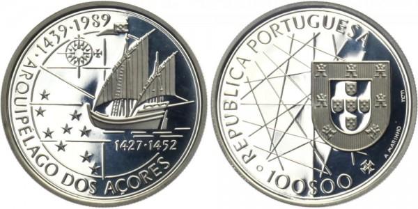 PORTUGAL 100 ESC 1989 - Entdeckung der Azoren