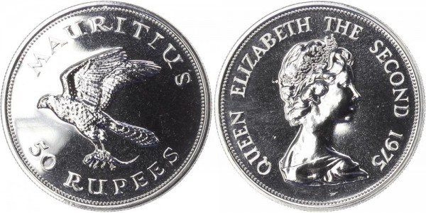 Mauritius 50 Rupien 1975 - Falke