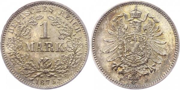 Kaiserreich 1 Mark 1876 F