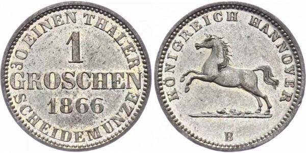 Hannover 1 Groschen 1866 B Georg V. 1851-1866
