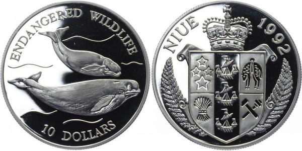 Niue 10 Dollar 1992 - Wale