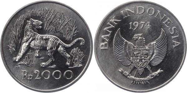 Indonesien 2000 Rupiah 1974 - Tiger