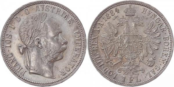 Österreich 1 Florin (Gulden) 1884 - Franz Joseph I.