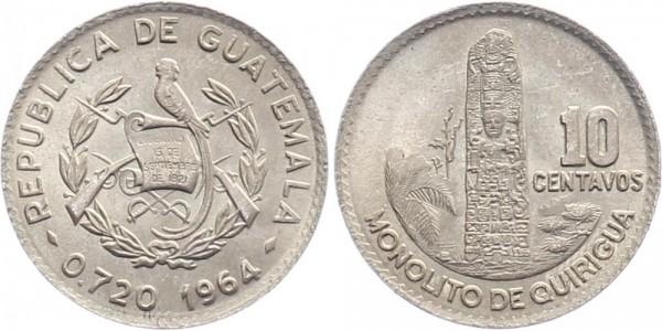 Guatemala 10 centavos 1964 - Kursmünze