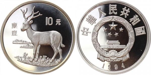 China 10 Yuan 1994 - Hirsch