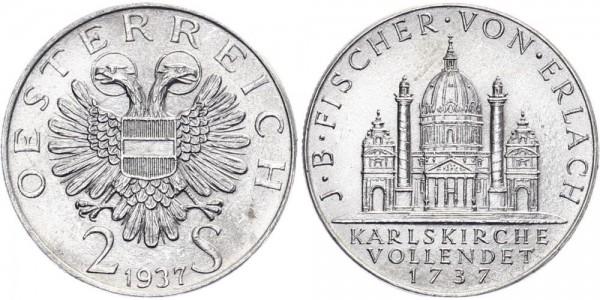 Österreich 2 Schilling 1937 - Erlach