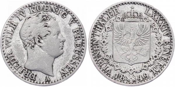 Preußen 1/6 Thaler 1849 - Friedrich Wilhelm IV.