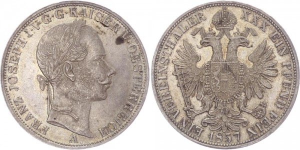 Österreich Taler 1857 A Vereinstaler, Franz Josef