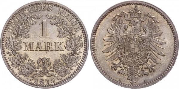 Kaiserreich 1 Mark 1875 A Kursmünze