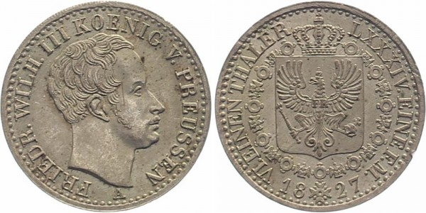 Preussen 1/6 Taler 1827 - Friedrich Wilhelm III