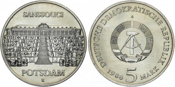 DDR 5 Mark 1986 A Sanssouci