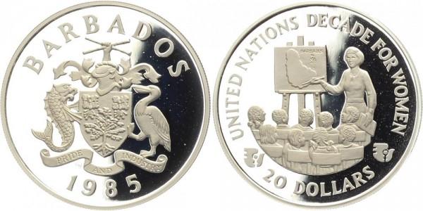 Barbados 20 Dollars 1985 - Jahrzehnt der Frau