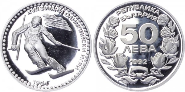 Bulgarien 50 Leva 1992 - 17. Olympische Winterspiele