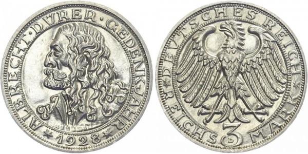 Weimarer Republik 3 Mark 1928 A Albrecht Dürer